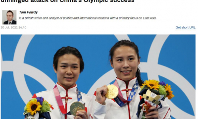 """看到金牌榜第一的中国美媒破防了,诋毁中国运动员是""""金牌机器"""",俄网友调侃:""""歇斯底里金牌""""归于美媒"""